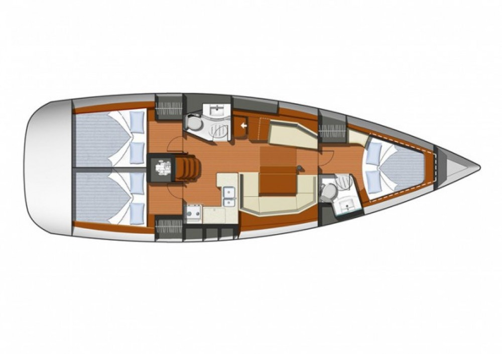 Jeanneau Sun Odyssey 42i between personal and professional Martinique
