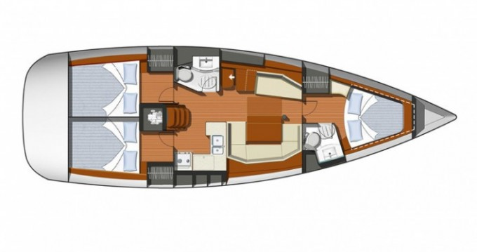 Jeanneau Sun Odyssey 42i between personal and professional Le Marin
