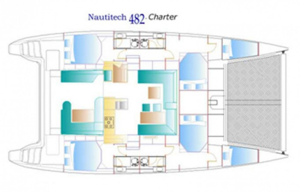 Boat rental Nautitech Nautitech 482 in Martinique on Samboat