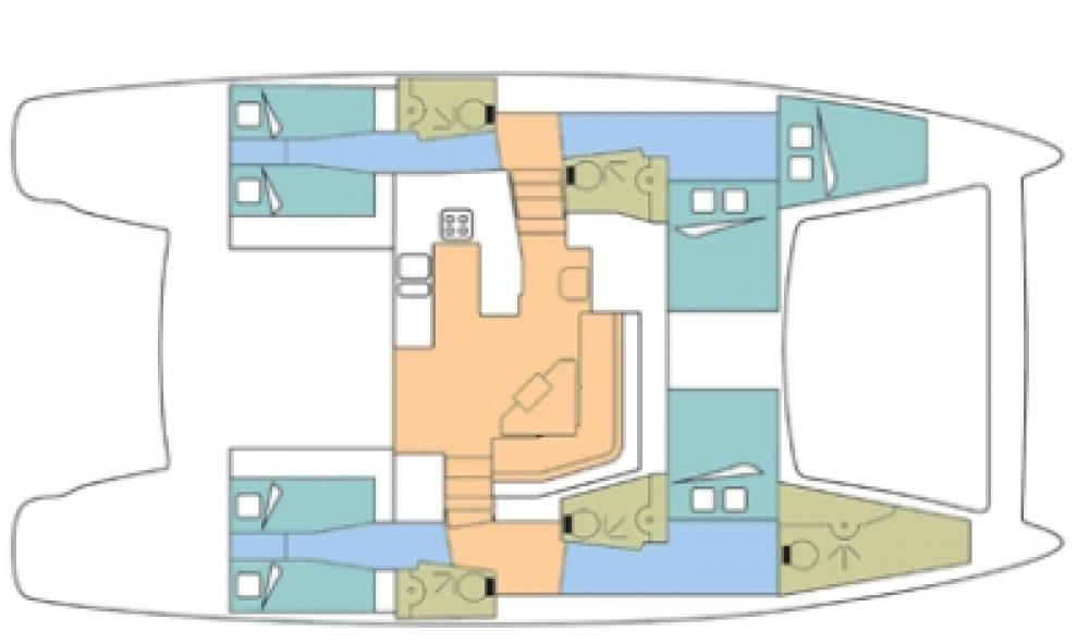 Boat rental Marigot cheap Catana 50 Ocean Class