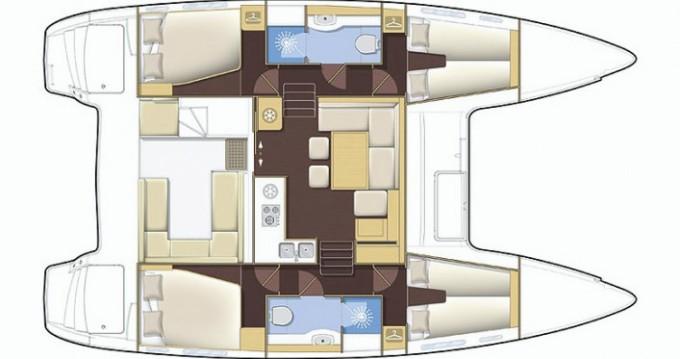 Boat rental Propriano cheap Lagoon 400 S2