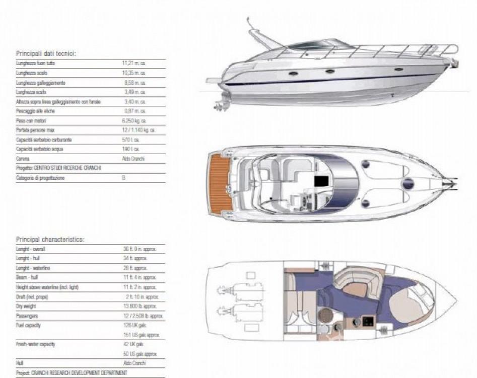 Rental Motor boat in Beaulieu-sur-Mer - Cranchi Zaffiro 34