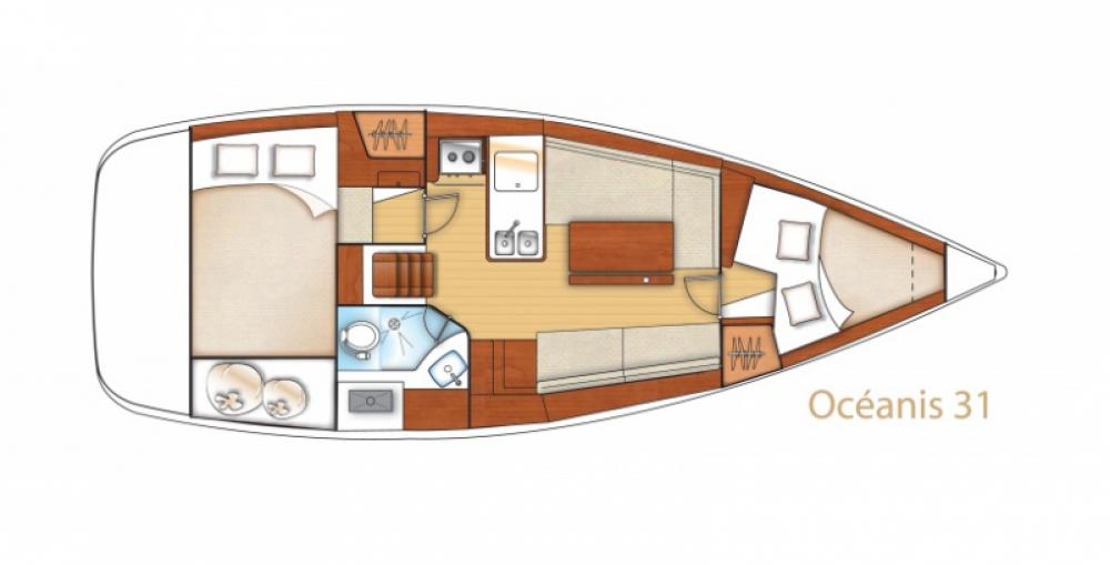 Boat rental Arzon cheap Oceanis 31 Dl