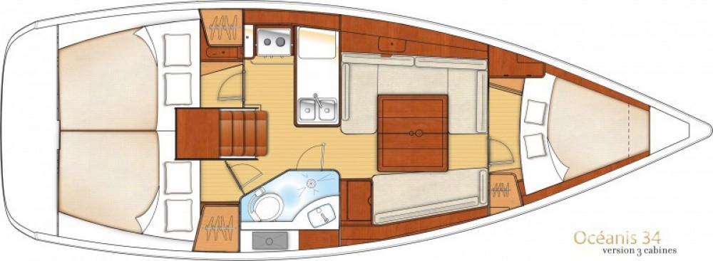 Rental Sailboat in Arzon - Bénéteau Oceanis 34