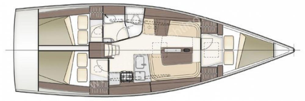 Rental Sailboat in Arzon - Delher 38