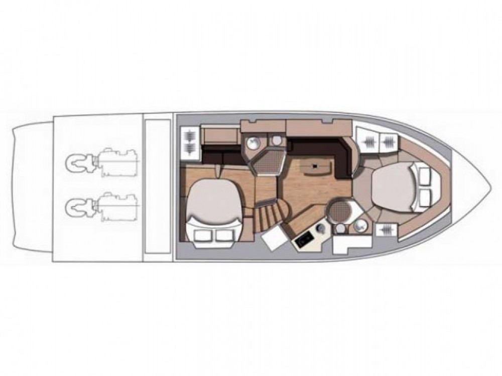 Hire Motorboat with or without skipper Cranchi-43-Sport-Top Primošten