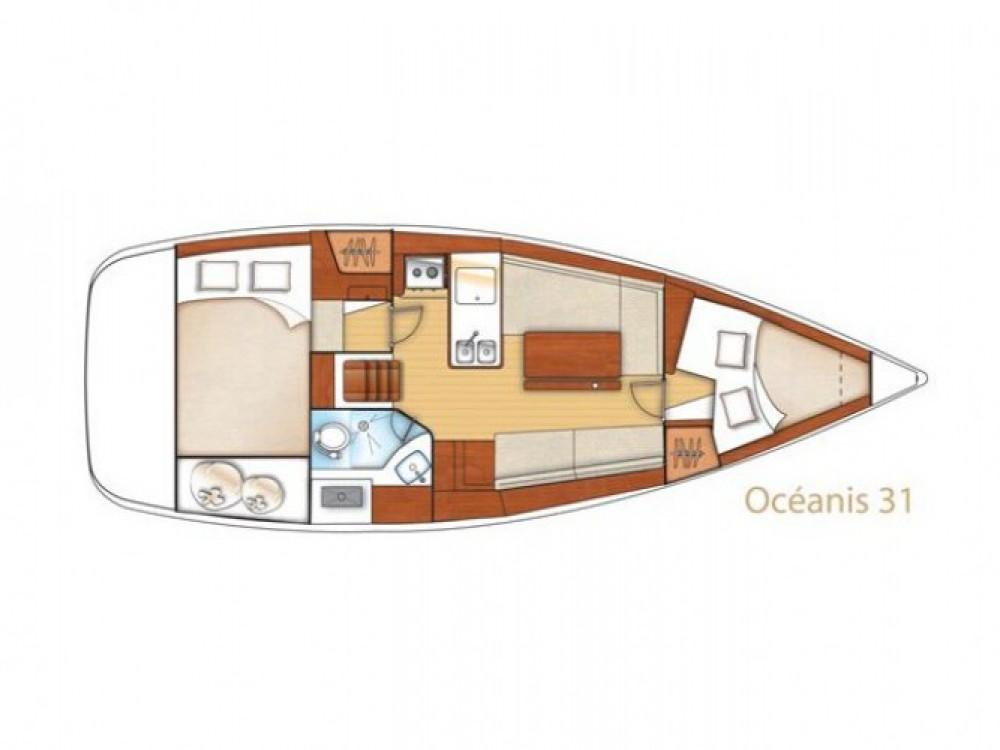 Boat rental Trogir cheap Oceanis 31