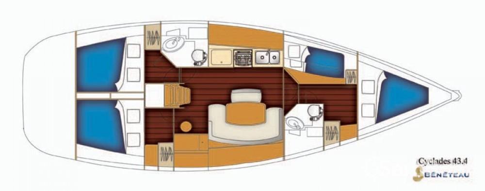 Rental yacht Trogir - Bénéteau Cyclades 43 on SamBoat