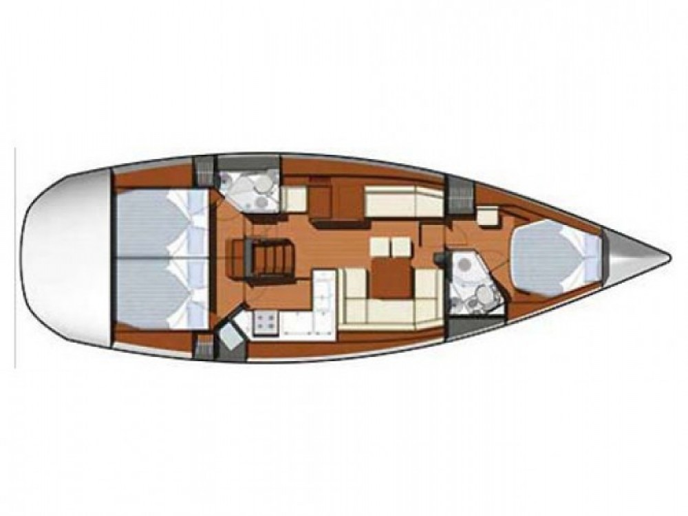 Jeanneau Sun Odyssey 45 DS between personal and professional Kaštel Gomilica