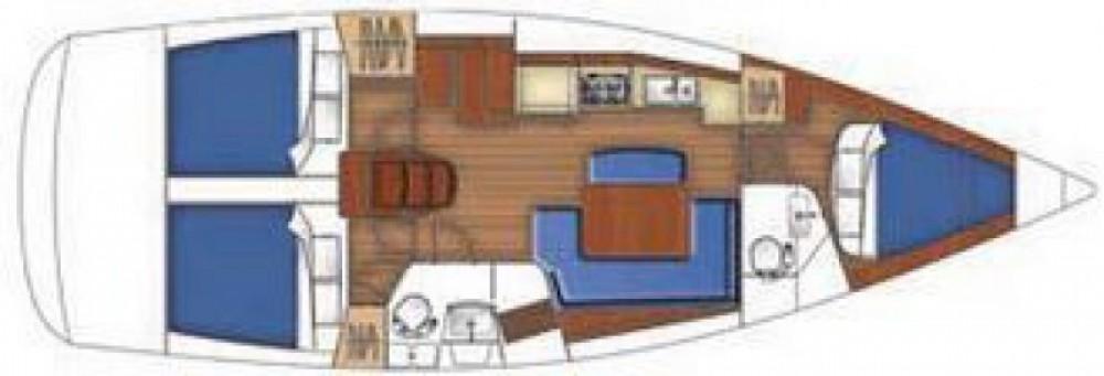Boat rental La Grande-Motte cheap Oceanis 40