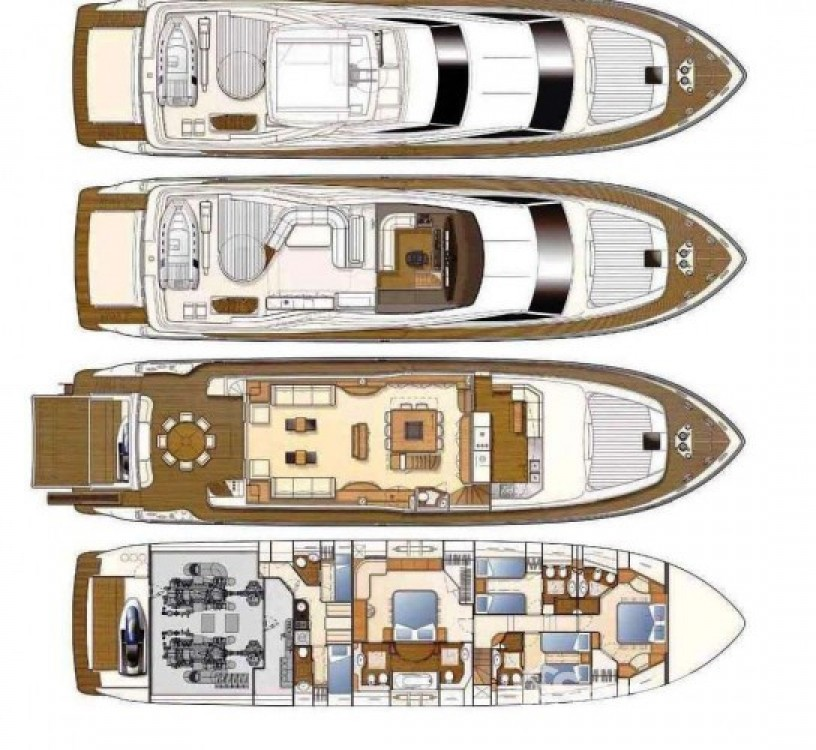 Rental yacht Saint-Tropez - Ferretti 27 on SamBoat
