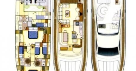 Rent a Ferretti yacht Mykonos (Island)
