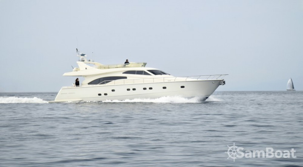 Ferretti yacht between personal and professional Athens