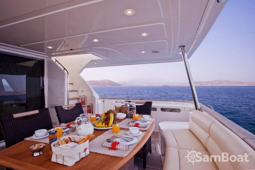Rent a Ferretti yacht Athens
