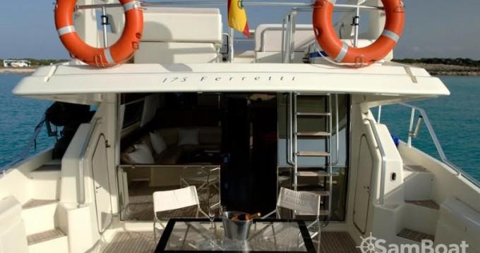 Boat rental Ibiza Town cheap Ferretti 175