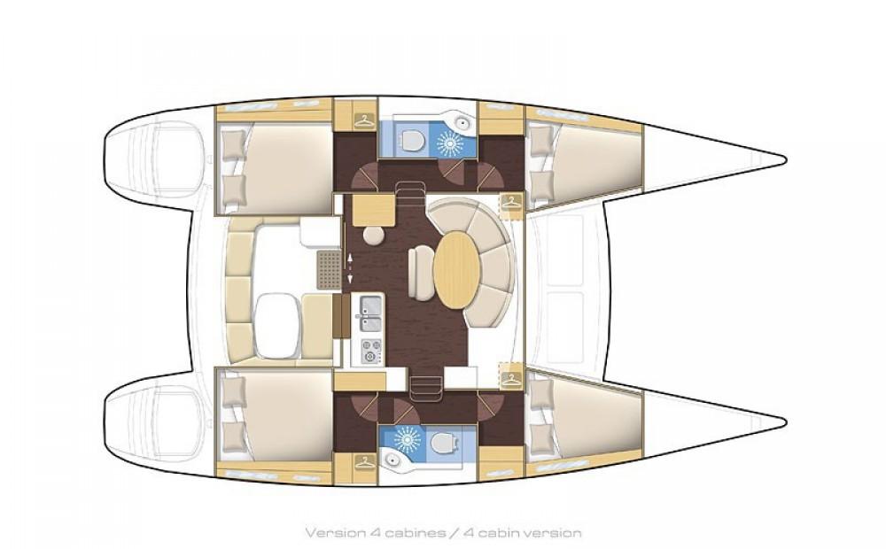 Boat rental Propriano cheap Lagoon 380