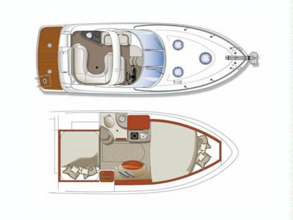 Hire Motorboat with or without skipper Four Winns Mandelieu-la-Napoule
