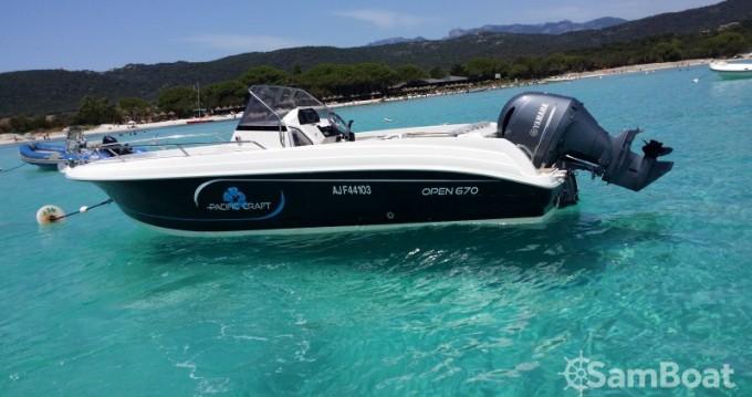 Boat rental Golfe de Santa Giulia cheap Open 670