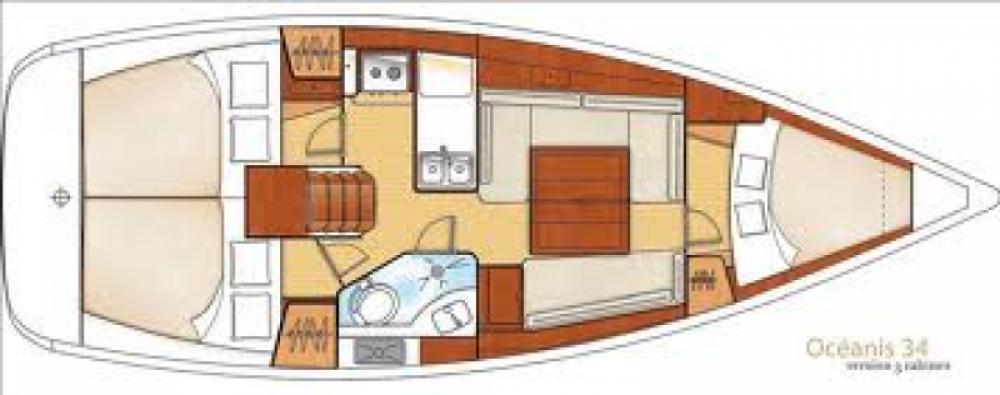 Rental yacht Cagliari - Bénéteau Oceanis 34 on SamBoat