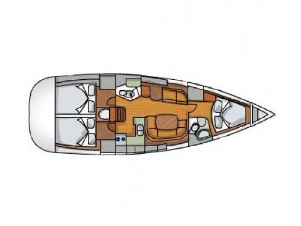 Jeanneau Sun Odyssey 42i between personal and professional Seget Donji