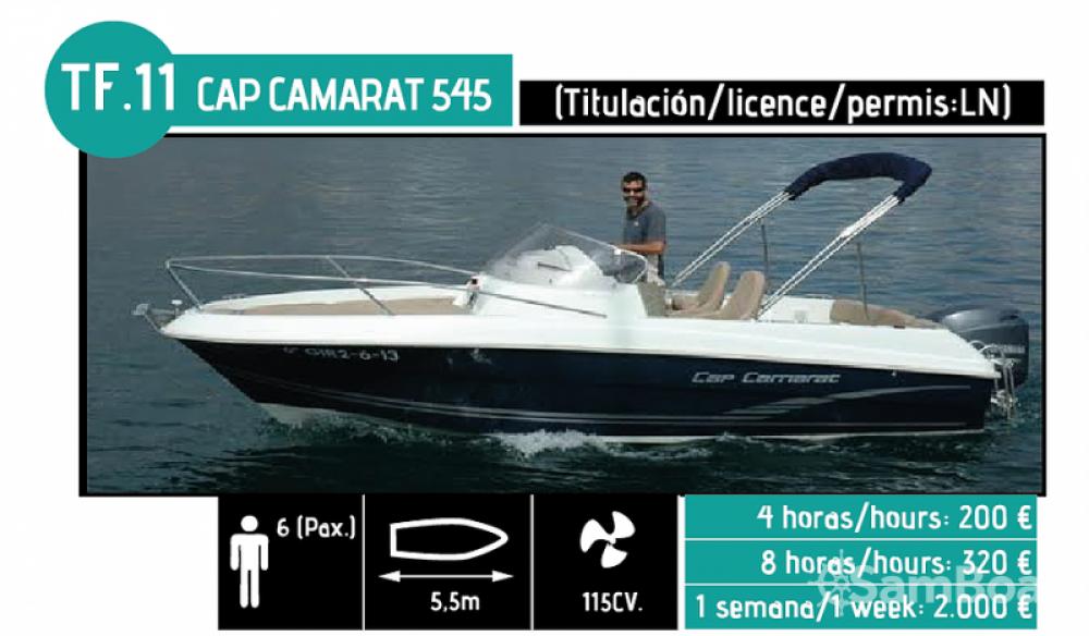 Boat rental l'Ampolla cheap CAP CAMARAT