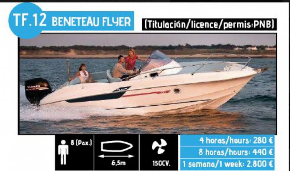 Rental Motorboat in l'Ampolla - Bénéteau Flyer 650 Sun Deck