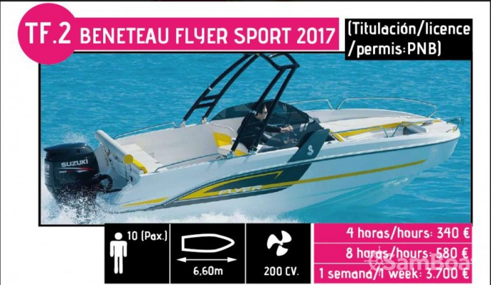 Motorboat for rent l'Ametlla de Mar at the best price