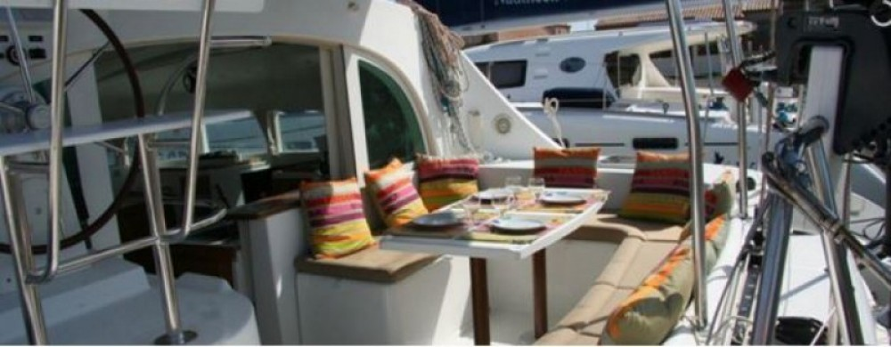 Boat rental Ibiza cheap Lagoon 380 S2