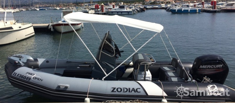 Zodiac Pro Open 550 between personal and professional Six-Fours-les-Plages