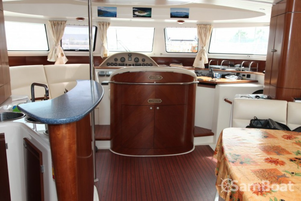 Rental Motorboat Fountaine Pajot with a permit