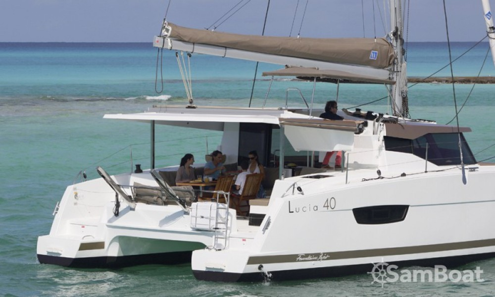 Fountaine Pajot Lucia 40 between personal and professional Cannes