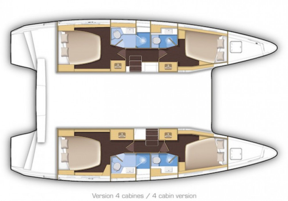 Rental Catamaran in Cartagena - Lagoon Lagoon 42