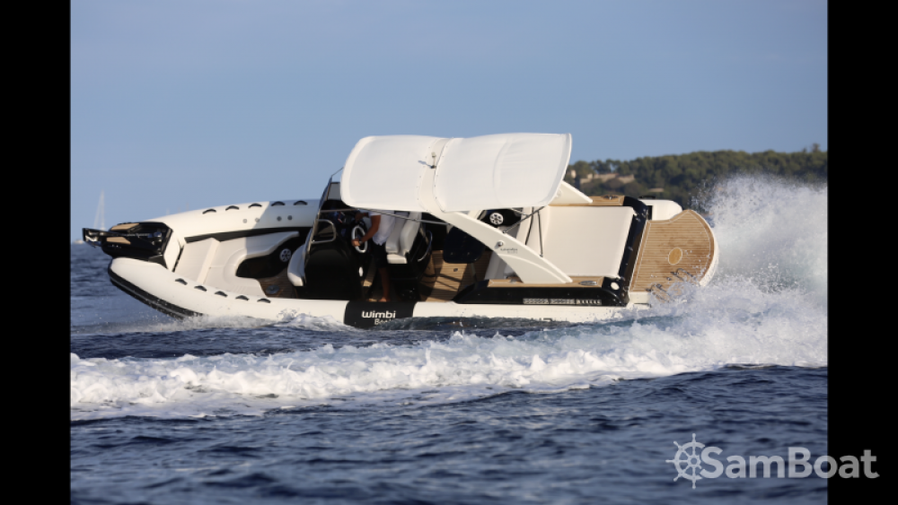 Hire RIB with or without skipper Wimbi Boats Port Grimaud