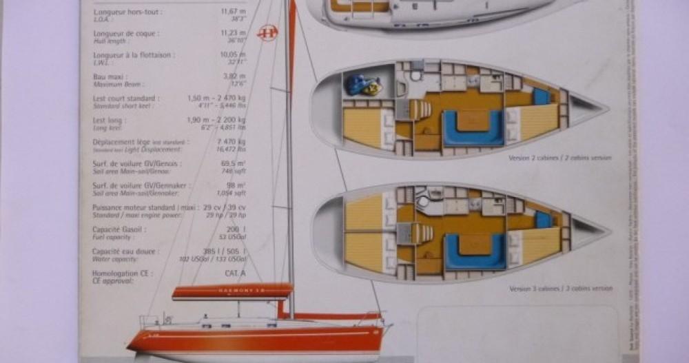 Boat rental La Grande-Motte cheap Harmony 38