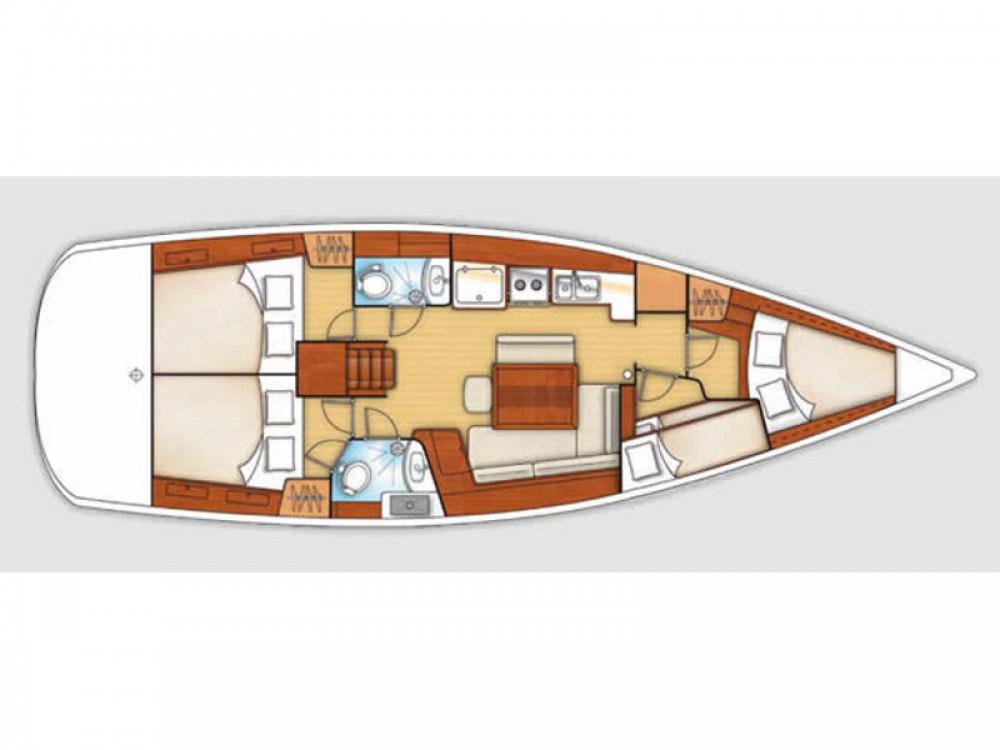 Boat rental Marina di Scarlino cheap Oceanis 43