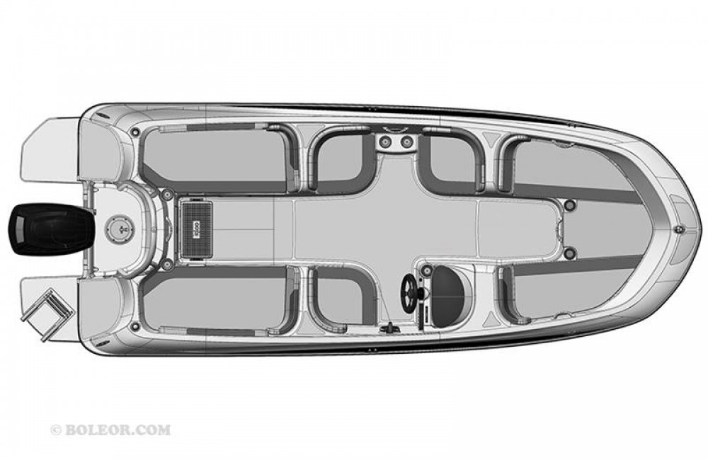 Boat rental Boleor Q600 'Atlas' (8p/115hp) in  on Samboat