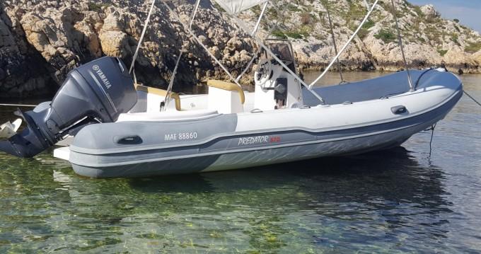 Rental RIB in Old Port of Marseille - Italboats Predator 570