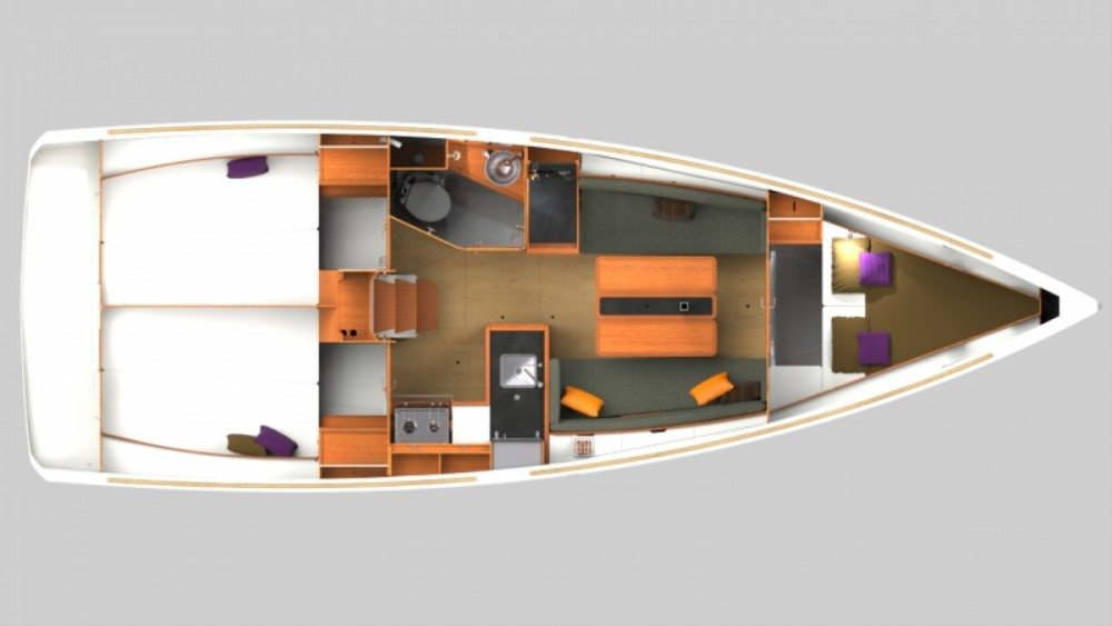 Rental yacht Arzon - Jeanneau Sun Odyssey 349 on SamBoat