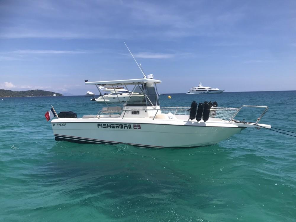 Boat rental Saint-Tropez cheap Fisherman 23
