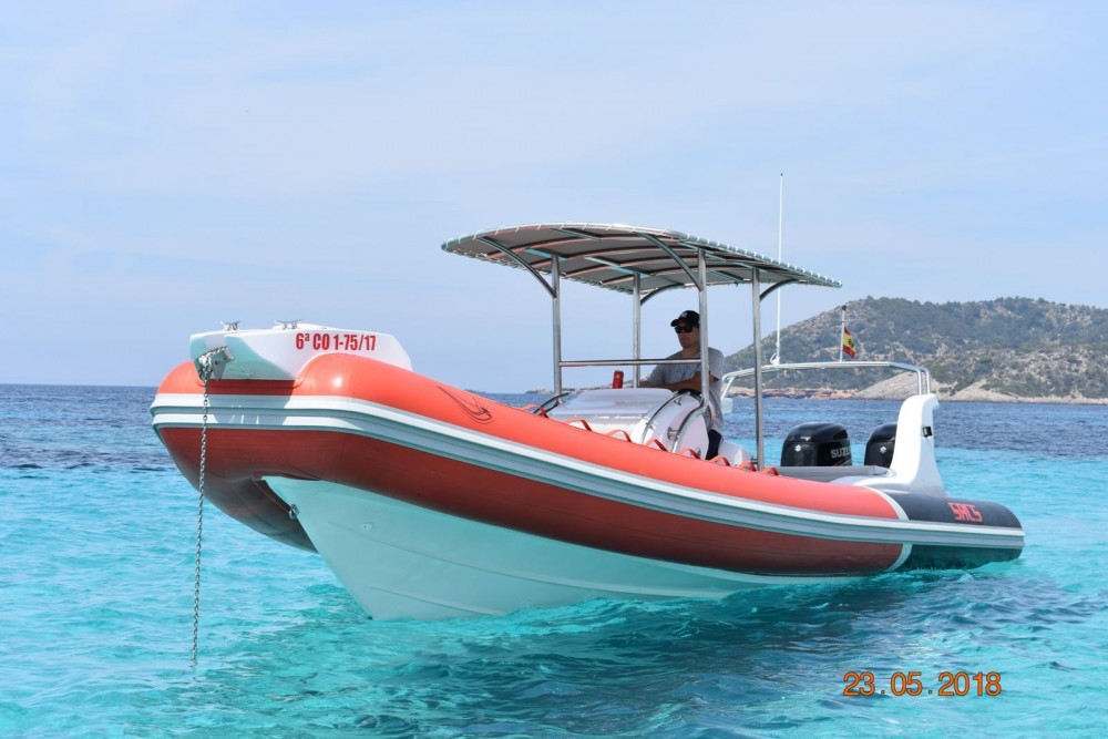 Boat rental Eivissa cheap Samurai 875