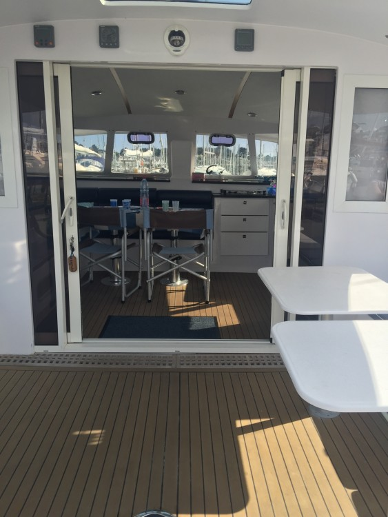 Rental Catamaran Indigo Yacht with a permit