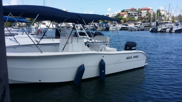 Rental Motorboat in Pointe-à-Pitre - Sea Pro  220c open