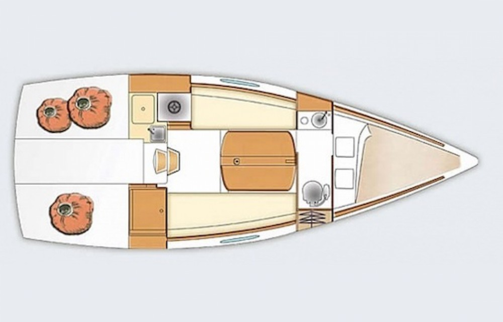 Boat rental Quiberon cheap First 25.7