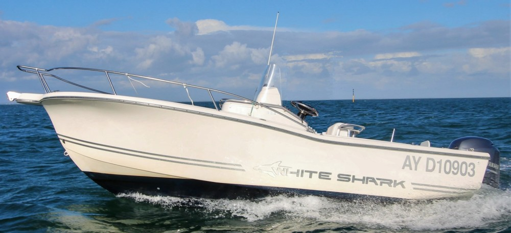 Rental Motor boat White Shark with a permit