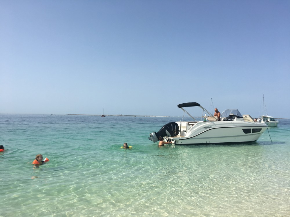 Rental Motorboat in La Forêt-Fouesnant - Quicksilver Quicksilver 805 Sundeck