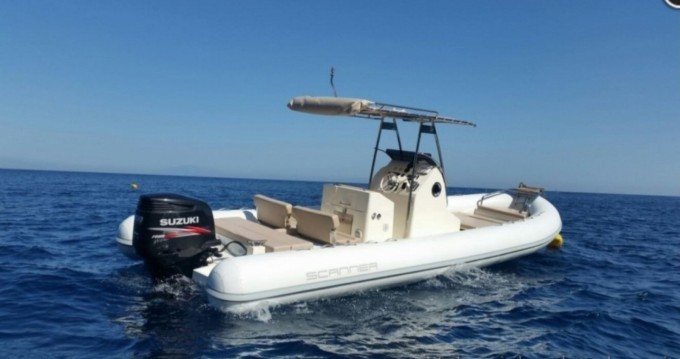 Hire RIB with or without skipper Scanner Salerno