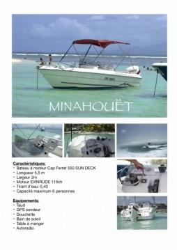 B2 Marine Cap Ferret 550 Sun Deck between personal and professional Pointe-à-Pitre