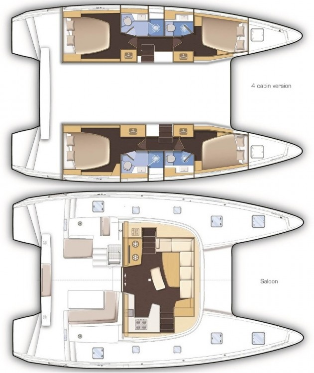 Hire Catamaran with or without skipper Lagoon Cagliari