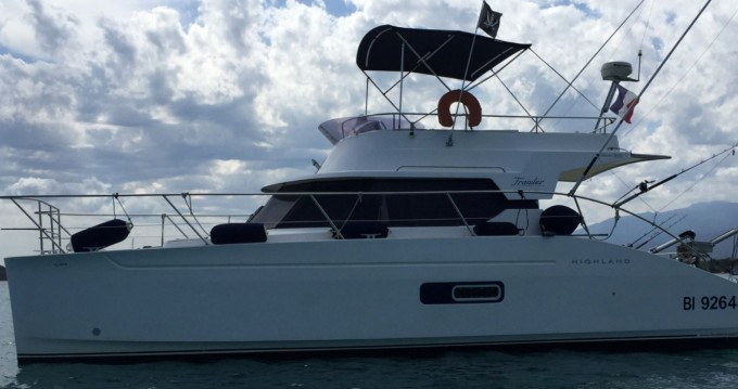 Fountaine Pajot Highland 35 between personal and professional Saint-Florent