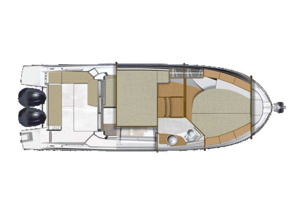 Rental Motor boat in Ajaccio - Bénéteau Antares 9 OB